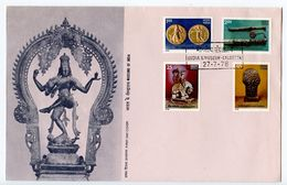 India 1978 Scott 800-803 FDC Treasure From Indian Museums - FDC