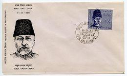 India 1966 Scott 439 FDC Abdul Kalam Azad, All-India Congress President - FDC