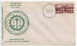 India 1966 Scott 441 FDC Allahabad High Court Centenary - FDC
