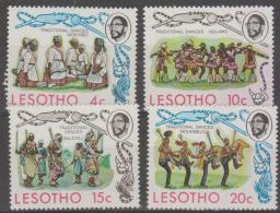 LESOTHO - 1975 Dancers. Scott 191-194. MNH ** - Lesotho (1966-...)