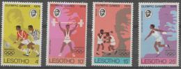 LESOTHO - 1976 Olympic Games - Soccer, Map. Scott 209-212. MNH ** - Lesotho (1966-...)