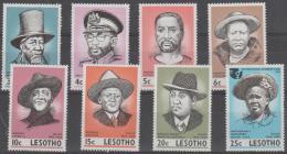 LESOTHO - 1975 Leaders. Scott 183-190. MNH ** - Lesotho (1966-...)