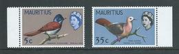 Mauritius 1966 5c & 35c Bird Definitives Sideways Watermark MNH - Mauritius (1968-...)
