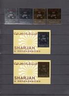 Sharjah 15.04.1972 Mi # 11051-52AB Bl 127-28 Munich Summer Olympics, Football, MNH OG - Verano 1972: Munich