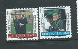 Christmas Island 1986 Prince Andrew Royal Wedding Set 2 MNH - Christmas Island