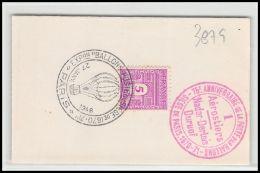 3879 France N° 620 75 ème Anniversaire De LA POSTE PAR BALLON 27/1/1946 - Marcophilie (Lettres)