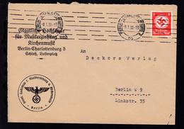 Staatsdienstmarke 8 Pfg. Auf Brief Der  Staatlichen Hochschule Für  - Service