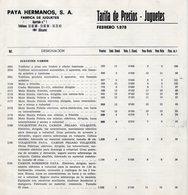 Catalogue PAYA HERMANOS Tarifa De Precios - Juguetes Febrero 1978 Pesetas - En Espagnol - Books And Magazines