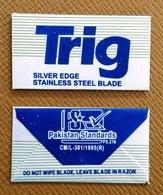 TRIG Silver Edge - Treet Double Edge Blade - Razor Blade In Wrapper - Made In Pakistan - Razor Blades