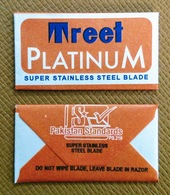 Treet Platinum Double Edge Blade - Razor Blade In Wrapper - Made In Pakistan - Razor Blades