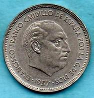 (r65)  ESPAGNE / SPAIN   25 PESETAS 1957 ( 59 ) F.FRANCO - [ 5] 1949-… : Royaume
