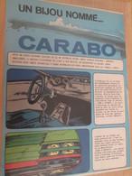 CLI618 Rubrique STARTER JIDEHEM : LA CARABO BERTONE , 2 Feuilles 2 Pages Découpées Dans Revue Spirou Des 60/70's - Auto/Moto
