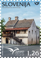 SLOVENIA 2018,EUROMED POSTAL ,MEDITERANIAN HOUSE,MNH - Slovenia