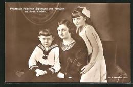 AK Prinzessin Friedrich Sigismund Von Preussen Mit Ihren Kindern - Royal Families