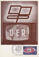Carte  Maximum  1er  Jour   FRANCE   3éme  Congrés  De  L' Union  Européenne  De  Radiodiffusion   1967 - Cartes-Maximum