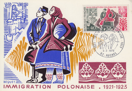 Carte  Maximum  1er  Jour    FRANCE   IMMIGRATION   POLONAISE    AUCHEL   1973 - Cartes-Maximum