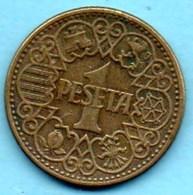 (r65)   ESPAGNE / SPAIN   1 PESETA 1944 - [ 4] 1939-1947 : Gouv. Nationaliste