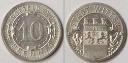 Notgeld Witten 10 Pfennig 1920 Alu  (m850 - [ 2] 1871-1918: Deutsches Kaiserreich