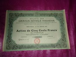 GRANDS HOTELS MASSENA (nice) - Shareholdings