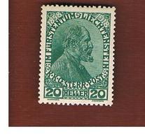 LIECHTENSTEIN -  SG 11  - 1917 PRINCE JOHN II -  MINT ** - Unused Stamps