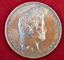 FRANCE-1830- SACRE DE LOUIS-PHILIPPE - TRES GRAND  BRONZE D'EPOQUE - Royal / Of Nobility