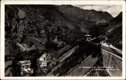 Cp Saorge Alpes Maritimes, Vue Sur Le Gare, Bahnhof, Bahnstrecke, Tal - Autres Communes