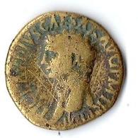 Monnaie Romaine Claude Dupondius 41/54 Bronze Environ 15 Grammes - 1. The Julio-Claudians (27 BC To 69 AD)