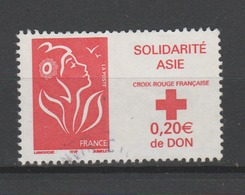 FRANCE / 2005 / Y&T N° 3745 : Marianne Asie (Croix-Rouge) - Choisi - Cachet Rond - France