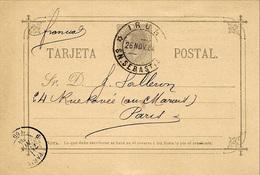 1884- Tarjeta Postal 10 Cent.   Annulé D'IRUN   Au Dos ,repiquage - Cartas