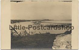 Foto Hochwasser Der Schtschara Vor Dem Schützengraben Russland 1917 Ostfront Baranowitschi Weissrussland Landwehr IR 72 - War 1914-18