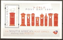South Africa  1997  SG 1002  World Post Day   Unmounted Mint Miniature Sheet - South Africa (...-1961)