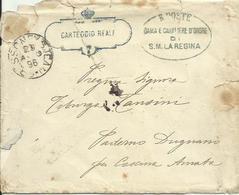 UM36-Lettera In Franchigia - Carteggio Reale Dama E Cavaliere D'Onore Di Sua Maestà La Regina 29.8.1896 - Storia Postale