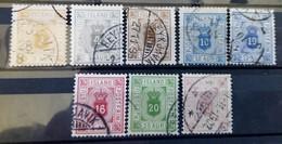 Islande - Timbres De Service N°3/9 Oblitéré (1876-1901) - Dienstpost