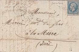 LETTRE. 13 FEVR 67. ISERE ALLEVARD. GC 65 . ORIGINE RURALE OR = PONT-DE-BENS / 2 - 1849-1876: Période Classique