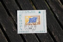 Timbre 20F Conseil De L'Europe Oblitération 1er Jour 1958 - Europe (Other)