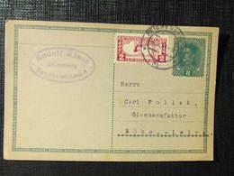 GANZSACHE Reichenberg - Böhmisch Leipa 1918 Rudolf Klaus  Korrespondenzkarte ////  D*33068 - Briefe U. Dokumente