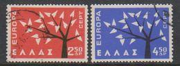 Europa Cept 1962 Greece 2v Used (39396B) - 1962