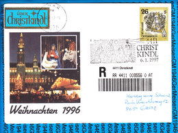 Austria Einschreiben Couvert 4411 Christkindl 556 0 AT - Postwaardestukken