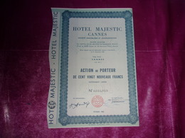 HOTEL MAJESTIC CANNES (1960) ALPES-MARITIMES - Unclassified