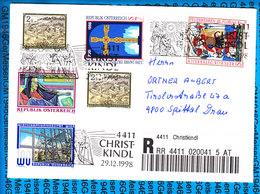 Austria Einschreiben Couvert 4411 Christkindl 041 5 AT - Postwaardestukken