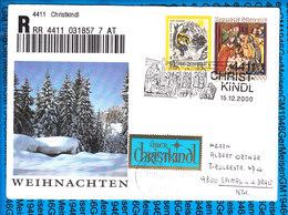 Austria Einschreiben Couvert 4411 Christkindl 857 7 AT - Postwaardestukken