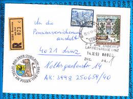 Austria Einschreiben Couvert 5280 Braunau Am Inn 073c - Entiers Postaux