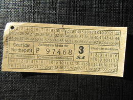 Fahrkarte Deutsche Reichspost Zusatzfahrschein Graz 1941// D*33085 - Europa