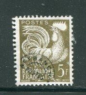 FRANCE- Préoblitéré Y&T N°107- Oblitéré - 1953-1960