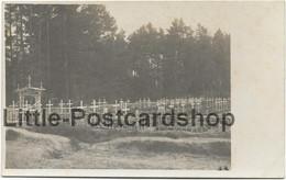 Foto Kirchhof Res. Inf. Regt. Nr. 8 Bei Skrobowa Russland 1916 Friedhof Bei Baranowitschi Weissrussland Landwehr IR 72 - War 1914-18