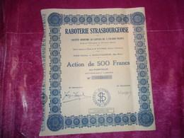 RABOTERIE STRASBOURGEOISE (schiltigheim , Bas Rhin ) - Aandelen