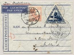 Nederlands Indië - 1933 - Pelikaanbriefje Van Medan/2 Naar Den Haag / NL - Nederlands-Indië
