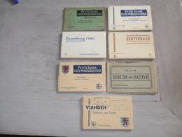 Beau Lot De 7 Carnets De Cartes Postales ( 66 ) Du Grand - Duché De Luxembourg  Mooi Lot Van 7 Boekjes Postkaarten - Cartes Postales