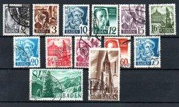 Baden  / Série N 1 à 13  /  Oblitérés - Baden