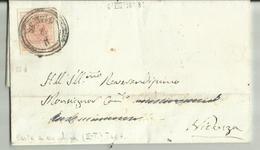 AS063-Lettera Da Schio A Vicenza Con 15 Cent. III Tipo Carta A Macchina 6.8.1858(?) - Timbro Di Arrivo Al Verso - Lombardo-Veneto